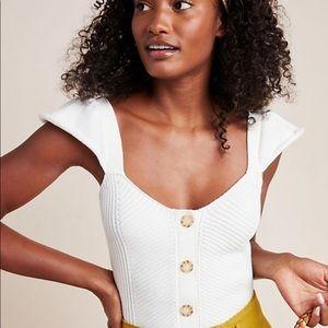 Anthropologie Cream Sweater Tank Top